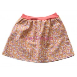 Skirt child Lilas Orange for 4 to 10 years