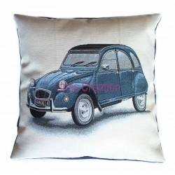 Housse de coussin 2CV Citroën bleue