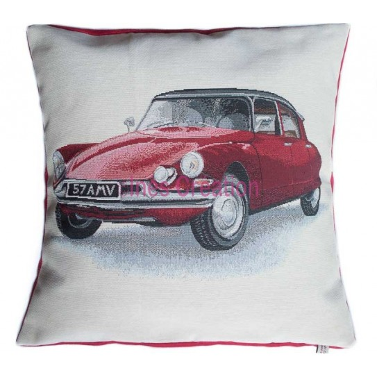 Cushion cover red DS Citroën