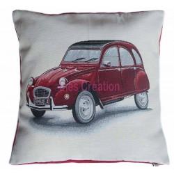 Housse de coussin Deuche Citroën rouge