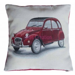 Cushion cover red 2CV Citroën
