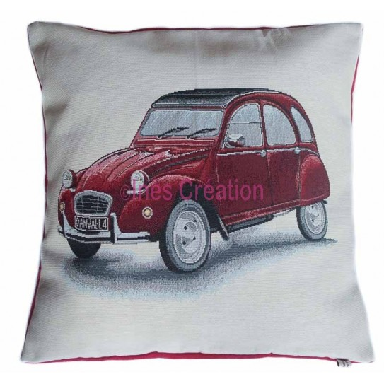 Cushion cover red 2CV Citroën