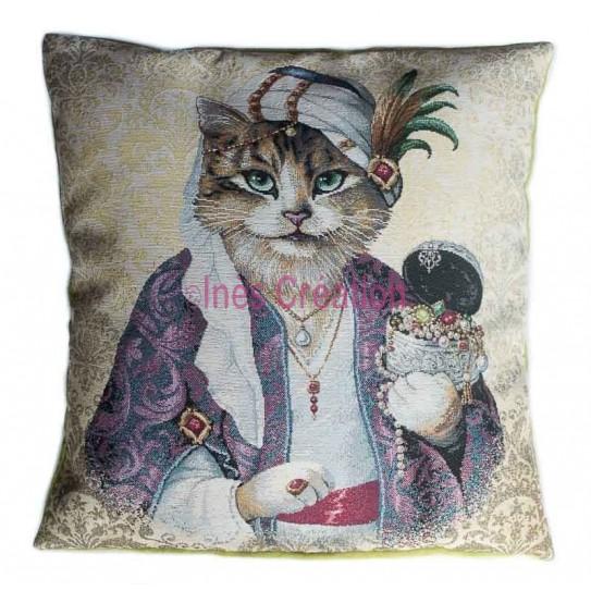 Cushion cover fakir cat