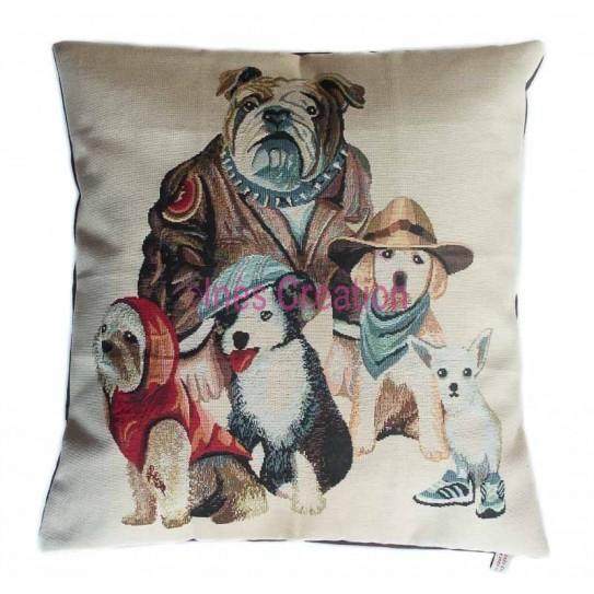 Cushion cover retro dog