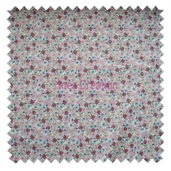 Cotton fabric sold by metre Lilac Mint/Pink Oeko-tex