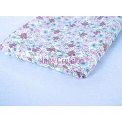 "Fat Quarters 20"" x 19,2"" pure cotton Lilac Mint/Pink"
