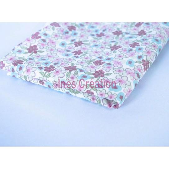 """Fat Quarters 20"""" x 19,2"""" pure cotton Lilac Mint/Pink"""