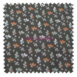 Cotton fabric sold by metre Fida bronze/coral Oeko-tex