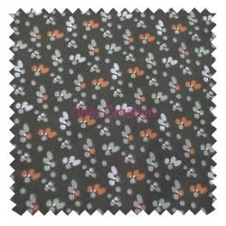 Cotton fabric sold by metre Fida bronze/coral Oeko-tex