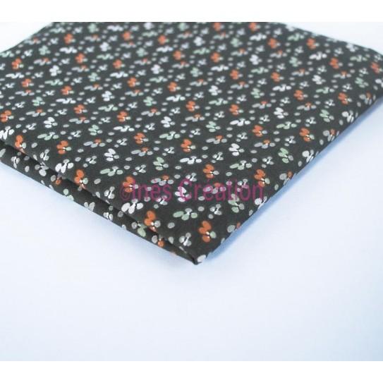 Coupon de tissu 50x48 cm 100% coton Fida Bronze/Corail