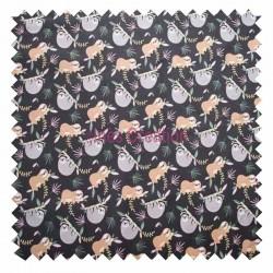 Cotton fabric sold by metre Lazare Vintage Oeko-tex
