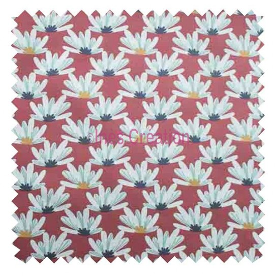 Cotton fabric sold by metre Myriel Purple Oeko-tex