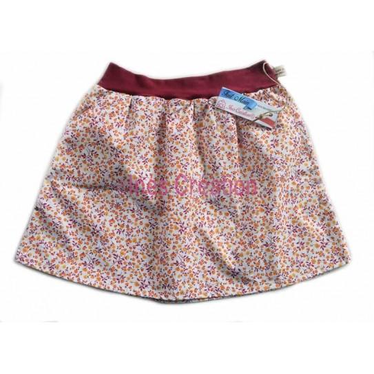Skirt child Sarina Orange for 4 to 10 years