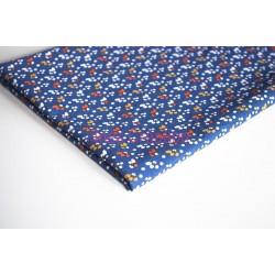 Coupon de tissu 50x48 cm 100% coton Fida Bleu