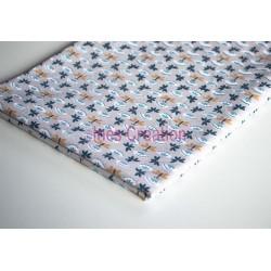 Coupon de tissu 50x48 cm 100% coton Sasaki Lin/Marine