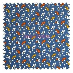 Cotton fabric sold by metre Fida Blue Oeko-tex