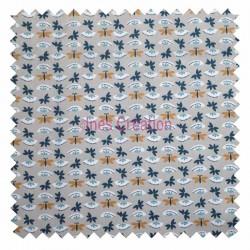 Cotton fabric sold by metre Sasaki Linen/Navy Oeko-tex