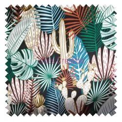 Cotton canvas half-panama Tara Jungle Oeko-tex