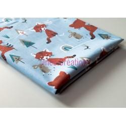 Coupon de tissu Panda 50x48 cm 100% coton