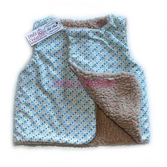 Gilet style petit berger bébé enfant Collection tissu avrey