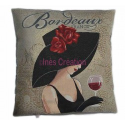 Cushion cover Bordeaux