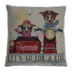 Cushion cover Let's Go for a Ride