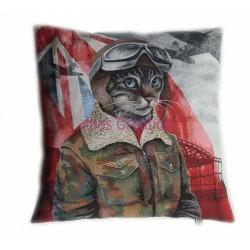 Cushion cover Aviator Cat