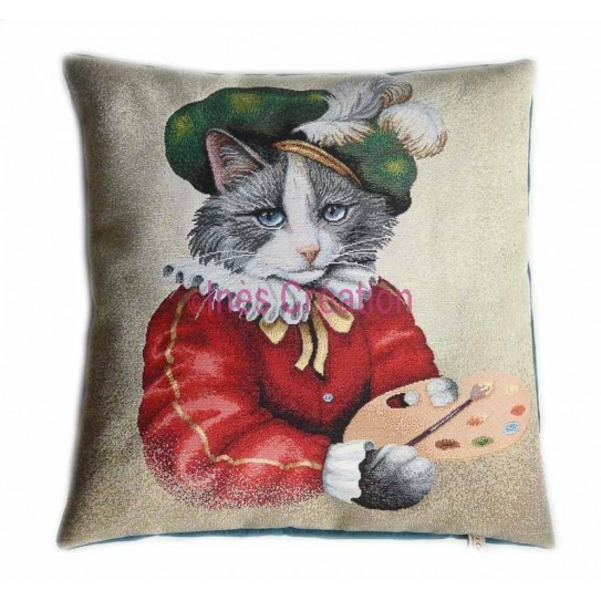 Cushion cover Painter Cat
