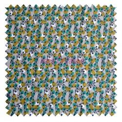 Viscose fabric sold by metre Kisnek beige/emerald Oeko-tex