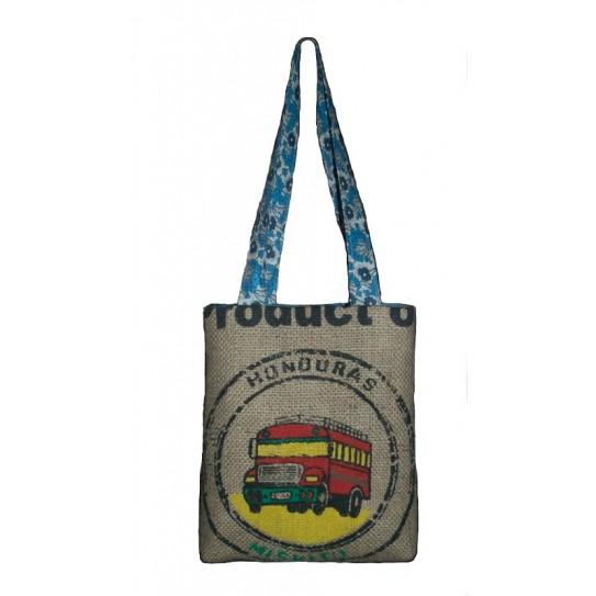 Handbag in hessian of coffee of Brazil
