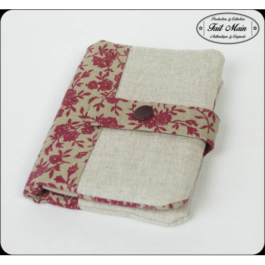 Portefeuille/Porte-cartes Coton Lin Beige