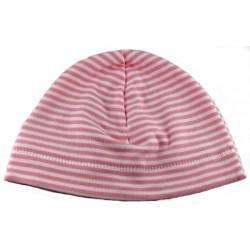 Kit patron bonnet bébé jersey coton bio rose et blanc 0 à 18 mois