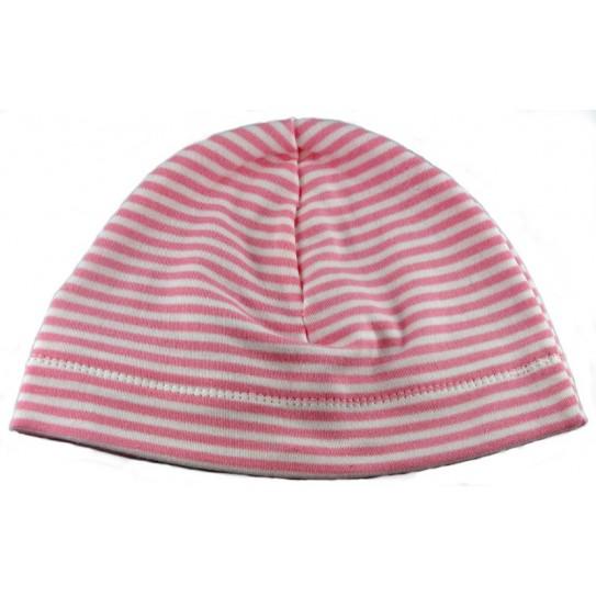 118f33dec76b Kit et tutoriel Bonnet jersey rayé naissance coton biologique