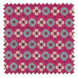 Fabric Cotton Fuchsia/Canard