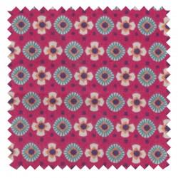 Tissu à partir de 10cm Coton Item Fuchsia/Canard Oeko-tex Reach