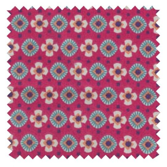 Fabric Cotton Fuchsia/Canard