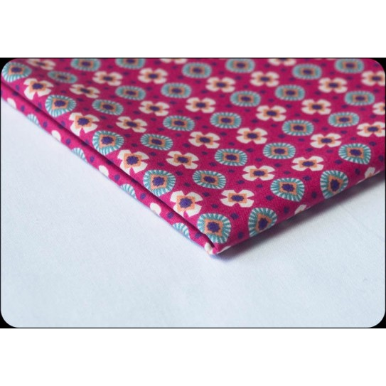 Fabric 100% cotton Item Fuschia/Canard