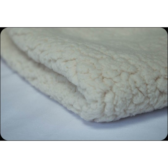 Coupon doublure Sherpa 50x50 cm imitation mouton