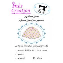 Kit Couture Bonnet Jersey Collection Juna Corail/Moutarde de la naissance à 18 mois