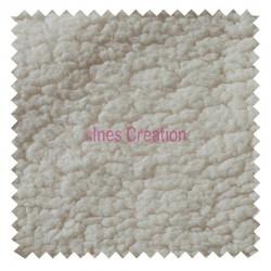 Tissu Sherpa Ecru Imitation Peau de Mouton pour doublure