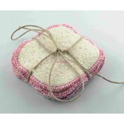 Lingettes Lavables Rose en coton 100% biologique