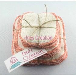 Lingettes Lavables Orange en coton 100% biologique