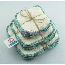 """Lingettes Lavables Turquoise organic cotton 3.2""""x3.2"""""""