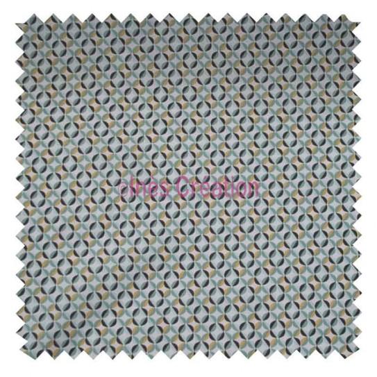 Tissu en coton vendu au mètre Zeleo Safran Jade Oeko-tex