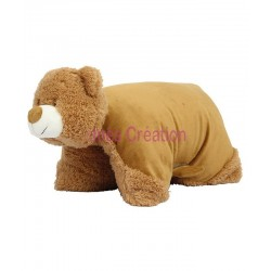 Coussin Peluche Ours à broder