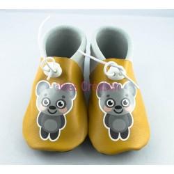 Chaussons bébé en cuir souple Koala