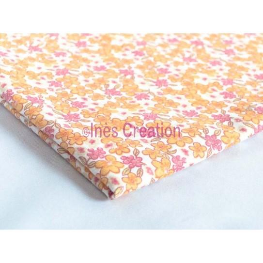 Coupon de tissu 50x50 cm 100% coton Collection Millefleurs