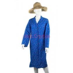 Blouse robe bleu fleurie