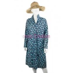Blouse robe marine fleurie