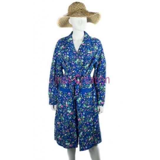 Blouse robe fleurie